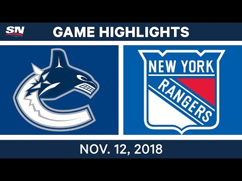 NHL Highlights | Canucks vs. Rangers – Nov. 12, 2018