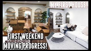 CRAZY MOVING WEEKEND! EMPTY FIRST HOUSE TOUR! | Lauren Elizabeth VLOGS!