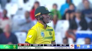 South Africa vs Sri Lanka - 3rd T20 - AB de Villiers  Wicket
