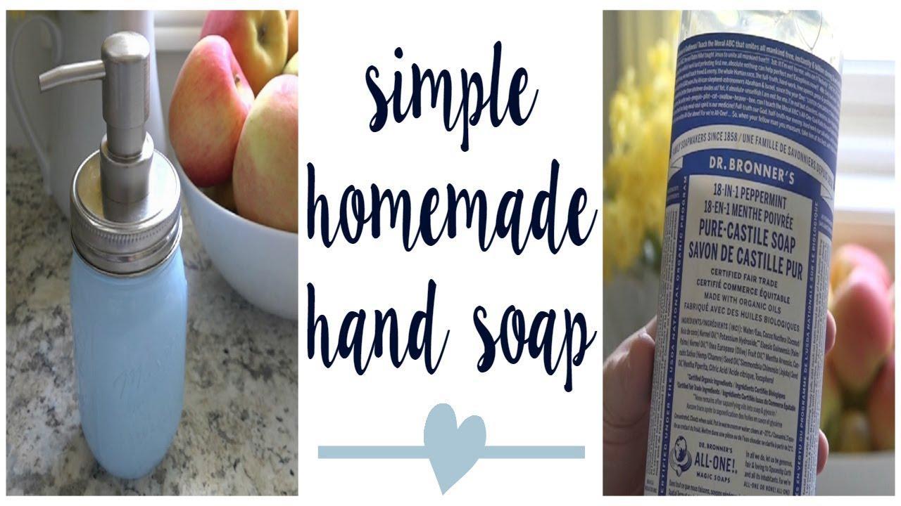 SIMPLE LIQUID HAND SOAP RECIPE   Dr. Bronner's Castile Soap