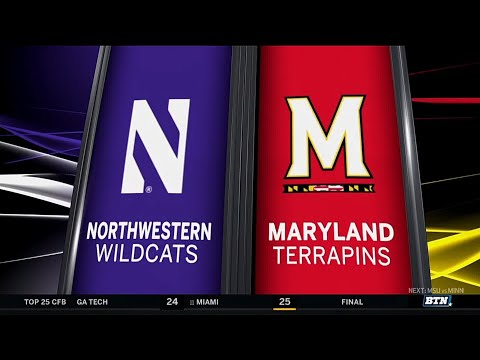 Northwestern at Maryland - Football Highlights