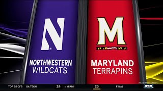 Northwestern At Maryland - Football Highlights