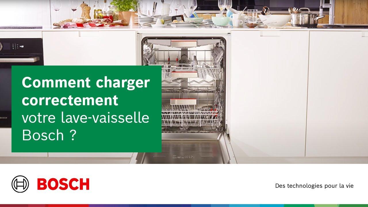 Rangement Machine À Laver comment correctement charger son lave vaisselle bosch ?