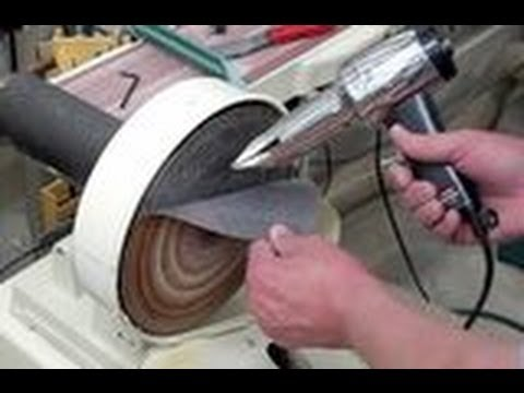 Disc Sander Changing Sandpaper Youtube