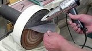 Disc Sander - Changing Sandpaper