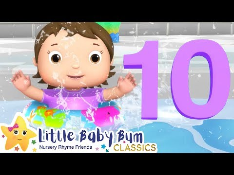 Ten Little Babies Water Park Song - Nursery Rhymes & Kids Songs - Little Baby Bum | ABCs and 123s
