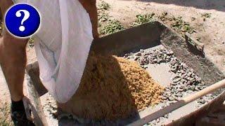 видео Приготовление бетонной смеси: материалы, способы