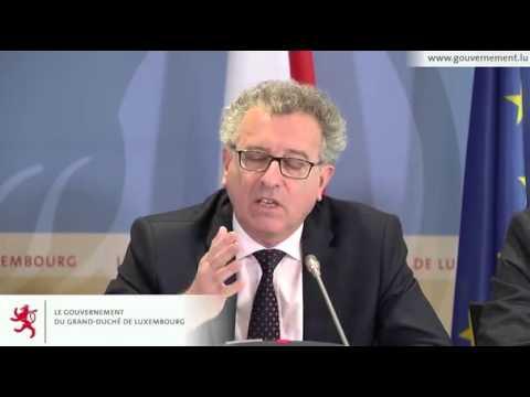 Réforme fiscale au Luxembourg (Conférence de presse entière) ©SIP