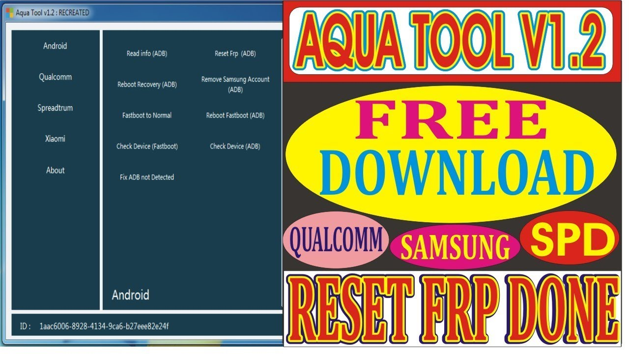 How To Install Aqua Tool V1 2 With Keygen | Reset FRP Samsung SPD Android  2019