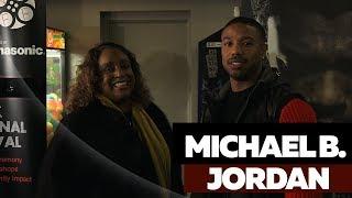 Michael B. Jordan and Family Celebrate