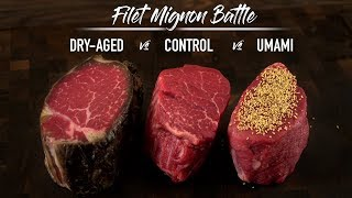 FILET MIGNON BATTLE - Dry Aged, Umami and Control! Which is best SOUS VIDE?