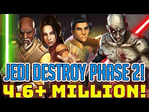 4.6 Mil+ Dmg (9%) Bastila + Jedi Best Phase 2 Heroic Sith Raid Team!? | Star Wars: Galaxy of Heroes