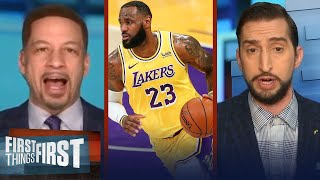 LeBron could win MVP; talking Clippers trade & Curry - Nick & Broussard | NBA | FIRST THINGS FIRST