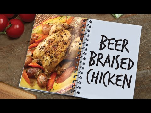 Beer Braised Chicken in the Copper Chef pan