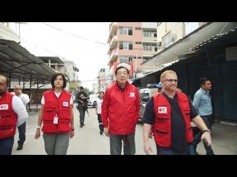 Presidente de la FICR recorrió Ecuador tras el terremoto