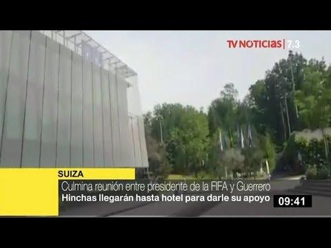Culmina reunión entre Paolo Guerrero y el presidente de la FIFA