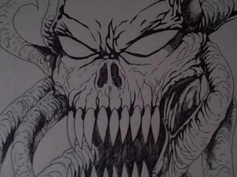 Demon Art Drawing  YouTube