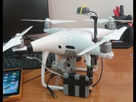 Топографическая аэрофотосъемка с квадрокоптера. Геодезический приёмник на борту Phantom 4.  Часть 3