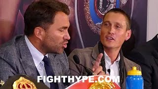EDDIE HEARN CHECKS JOSEPH PARKER'S PROMOTER; TRADE WORDS ABOUT ANTHONY JOSHUA'S CHIN