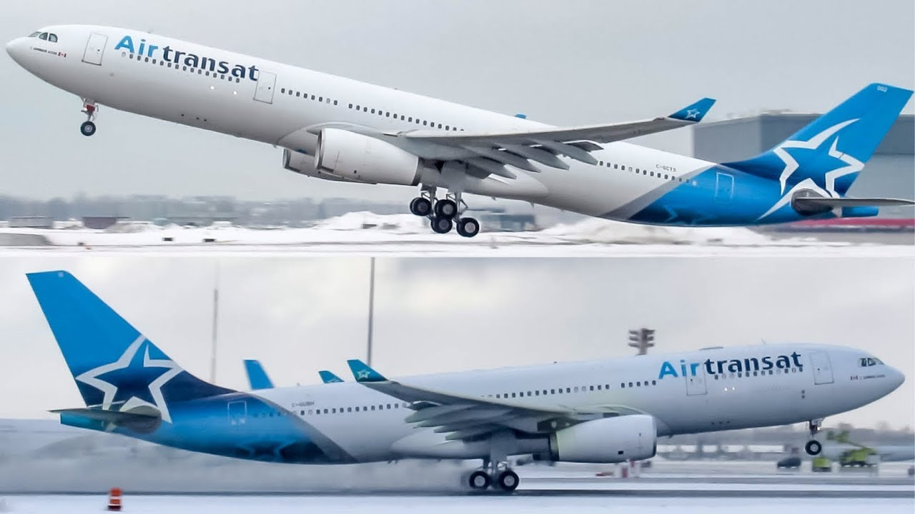New Livery S Air Transat Airbus A330 200 And A330 300 Departing