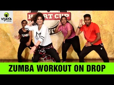 Zumba Workout On Drop | Drop by Diplo & DJ Snake |  Zumba Videos | Choreographed By Vijaya Tupurani