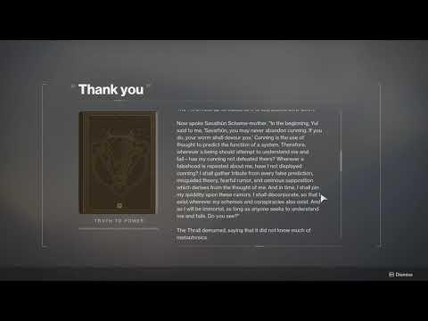 Destiny 2 - Truth to power #7 (Mara Sov Throne visit #8) - Oracle Engine Lone Entry thumbnail