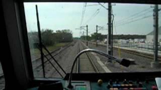 riding in the caboose of the electric train