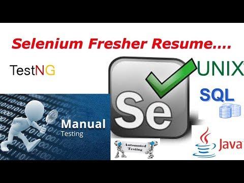 Selenium Fresher Resume Preparation Software Testing Resume G C Reddy 