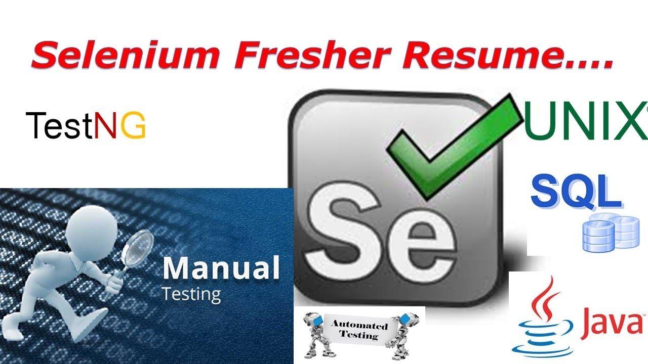 selenium fresher resume preparation software testing resume g c
