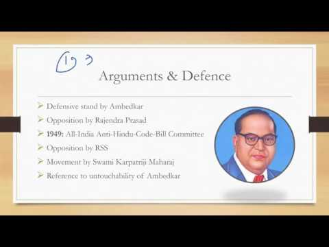 Lecture 4,Post India Independence  Hindu Code Bill controversy