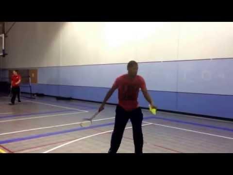 Dominique Lee F14, KNPE 226, Badminton post serve