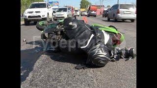 Мотоциклист погиб в аварии недалеко от городского управления ГИБДД в Хабаровске. MestoproTV