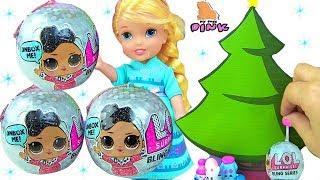 НОВОГОДНИЕ КУКЛЫ ЛОЛ для Анны и Эльзы Bling Series #LOL Surprise Dolls - Elsa and Anna Toddlers