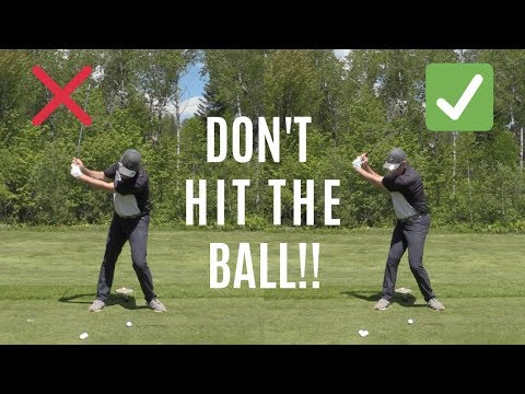 #1 THING NOT TO DO IN GOLF-DON'T HIT THE BALL!