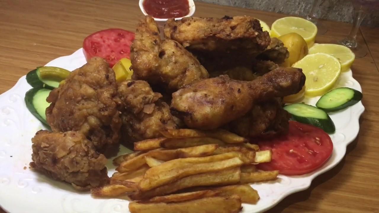 دجاج كنتاكي منزلي والطعم ينافس المطاعم