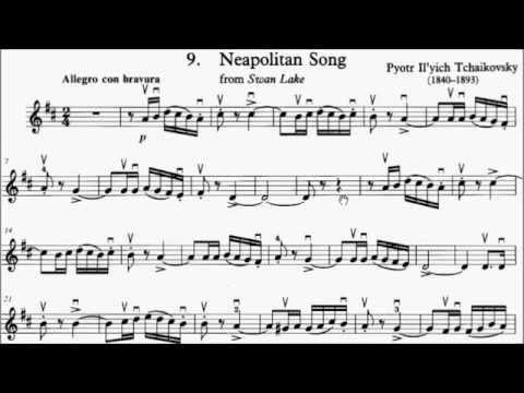 Trinity TCL Violin 2016-2019 Grade 4 A5 Tchaikovsky Neapolitan Song Swan Lake Sheet Music