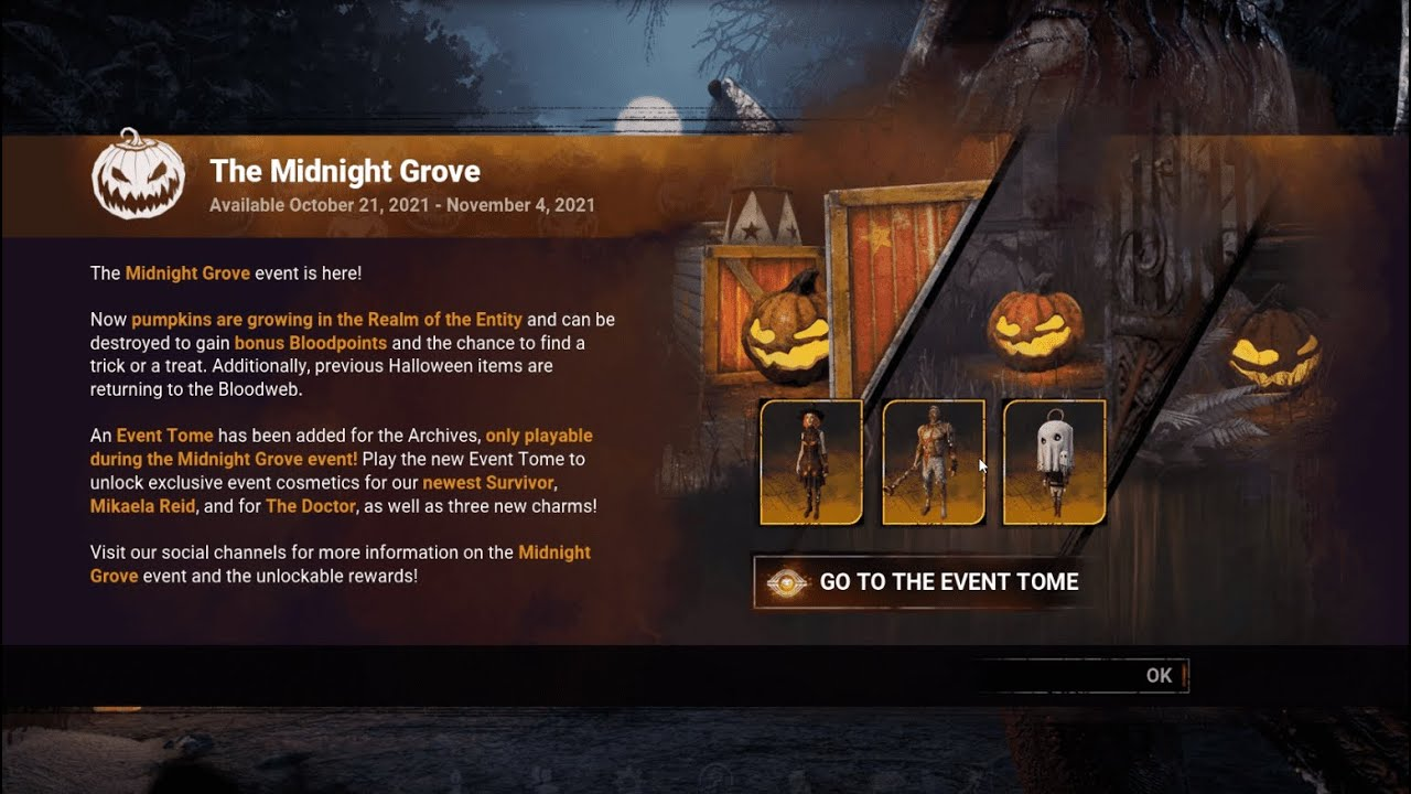"""Download """"The Midnight Grove"""" Event   Event Tome - Dead by Daylight"""