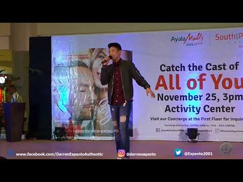 Darren Espanto sings 'Dying Inside' at Ayala Malls South Park (11-25-2017)