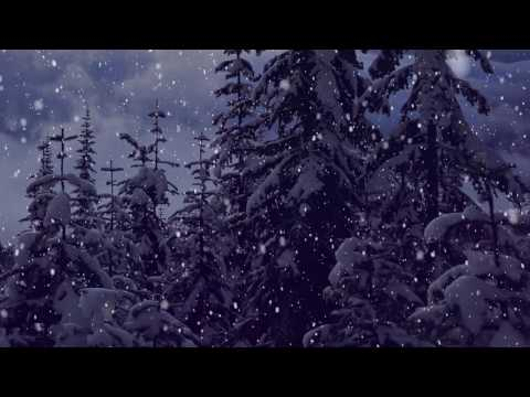 Snow Falling Motion Effect - Christmas  Background Video thumbnail