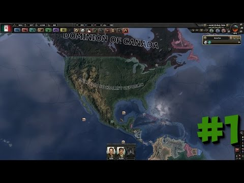 Hearts Of Iron IV TimeLapse Mexico #1