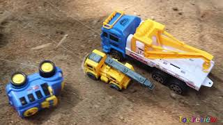 Fine Toys Construction Vehicles Under The Mud. Excavator