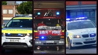 Police, Fire Engines & Ambulances Responding - Best Of July 2015 -