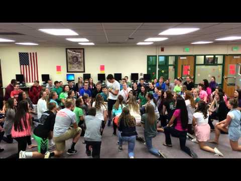 2015 - Yorktown High School (IN) - Frozen Contest - Kick-Off Program Dance Mash-Up