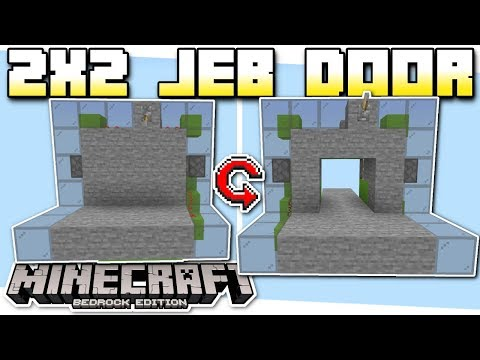 Minecraft Bedrock - 2x2 JEB DOOR (FLUSH +TINY+EASY)[ Tutorial ] MCPE / PS4 / Xbox / Windows & Switch