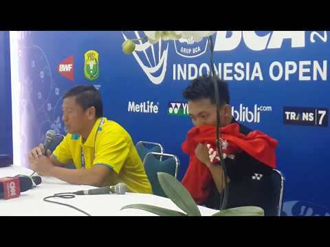 Ihsan and Coach Press Conference - BCA Indonesia Open 2016