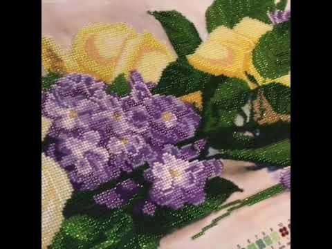 Вышивка бисером корсиканский букет