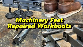 SNS 332: Machinery Feet for Hydmech, Repaired Work Boots, Tung Force Mini Mill, Rode Wireless Go