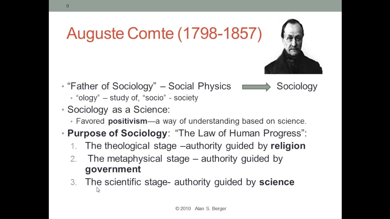 founding fathers of sociology Auguste comte, the french philosopher, is traditionally considered the father of  sociology comte who invented the term sociology was the.