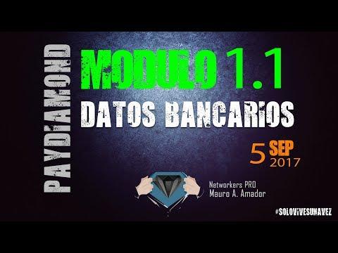 Modulo 1.1 - Datos bancarios :: Paydiamond