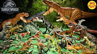 WD Toys Presents Complete Collection of 34 Jurassic World Fallen Kingdom Mattel Dinosaur Toys including scan codes for all 34 or QR Codes for the Jurassic ...